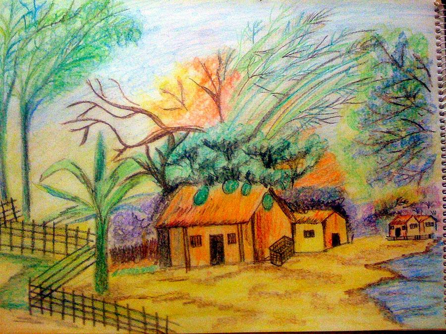Landscape Painting - Spring Time by Smitha Kamath