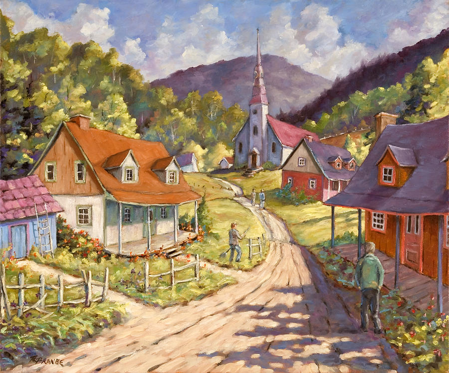 Painting Painting - Spring Time Sun by Richard T Pranke