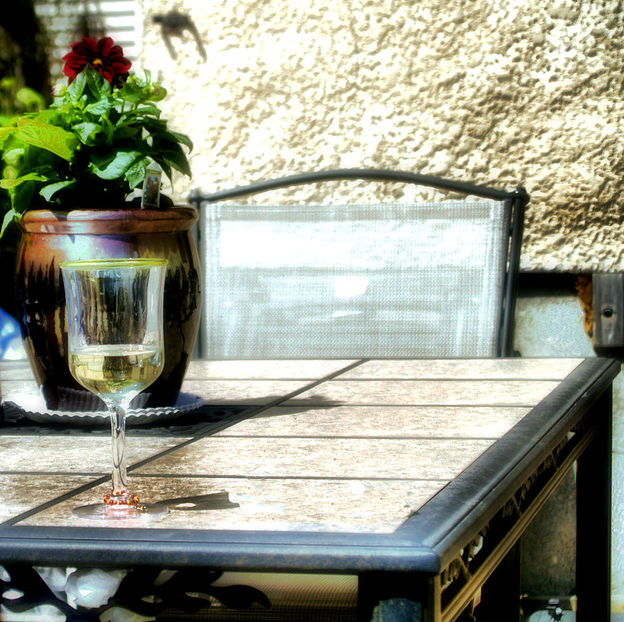 Table Photograph - Spring Time Wine by Jimmy Ostgard