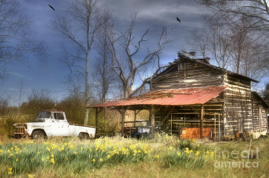 Spring Tobacco Barn by Benanne Stiens