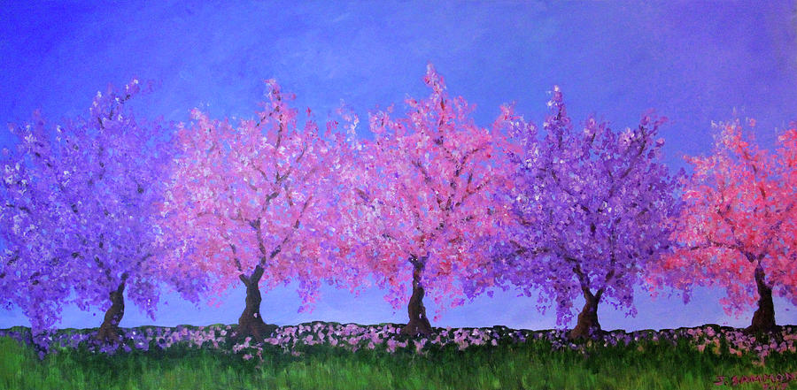 Spring Trees by Janet Greer Sammons