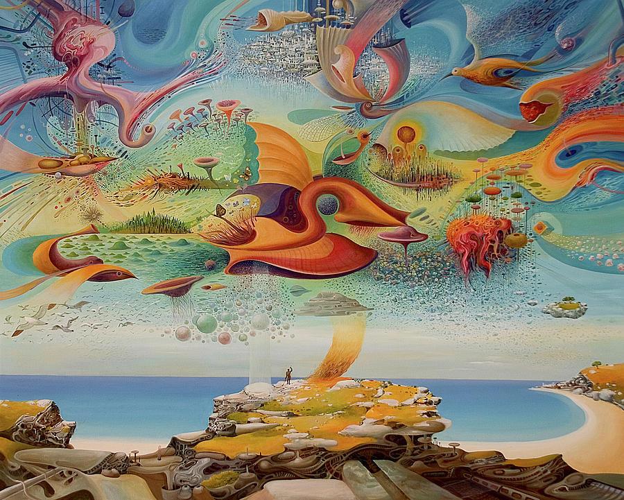 Landscape Painting - Spring Vibrations by Vasko Taskovski