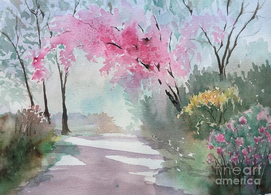 Spring Walk Painting by Yohana Knobloch