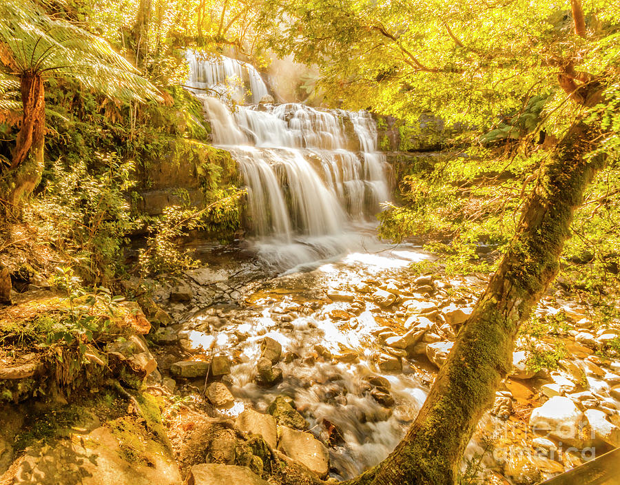 Waterfall Photograph - Spring Waterfall by Jorgo Photography - Wall Art Gallery