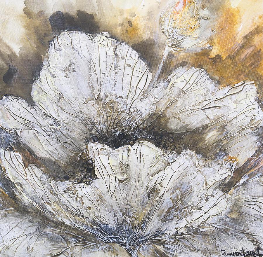 Spring White Flower Painting By Irina Rumyantseva