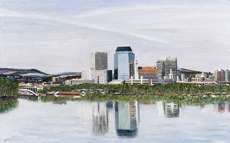 Reflections Painting - Springfield Reflections by Richard Nowak