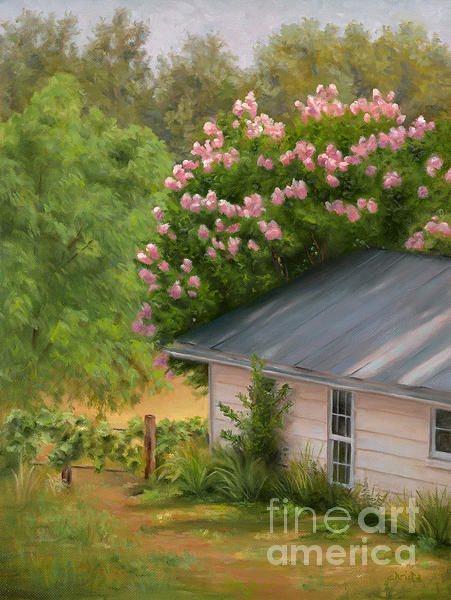 Landscape Painting - Springhouse by Christa Eppinghaus