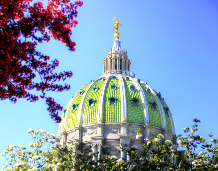 Spring's Arrival at the Pennsylvania Capitol by Shelley Neff