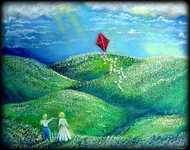 Spring Painting - Springs First Flight by Ronald Johnson
