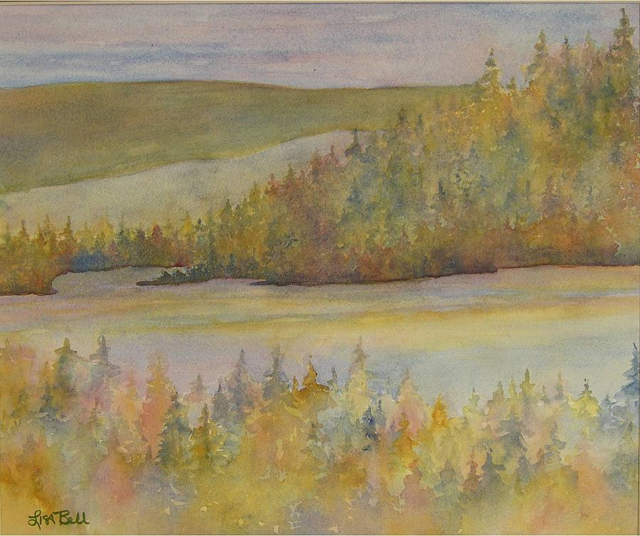 Watercolor Painting - Springs In The Valley by Lisa Bell
