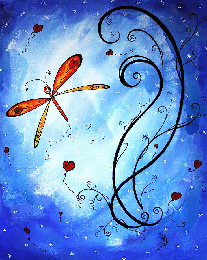 Abstract Painting - Springs Sweet Song Original Madart Painting by Megan Duncanson
