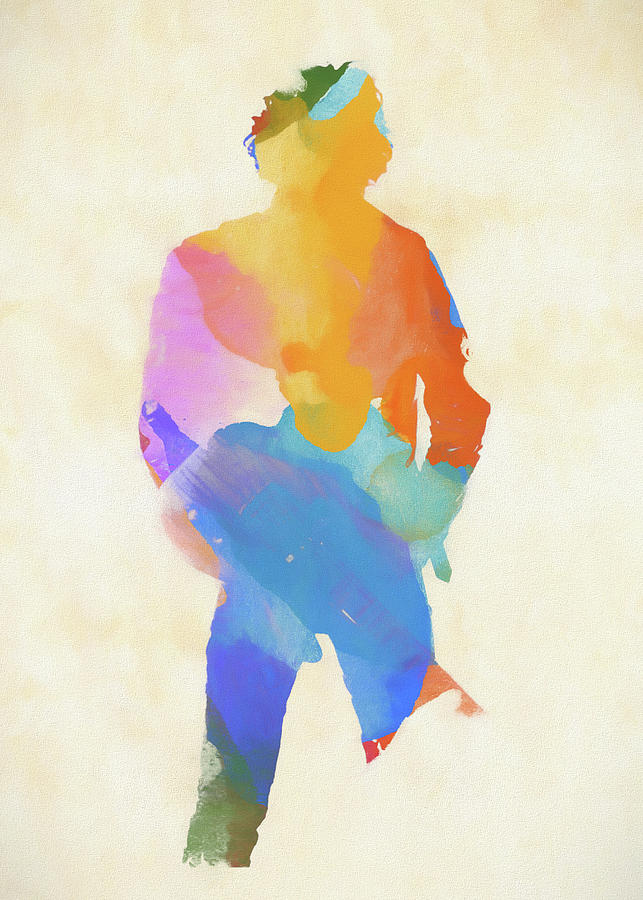 Bruce Springsteen Painting - Springsteen From Behind by Dan Sproul