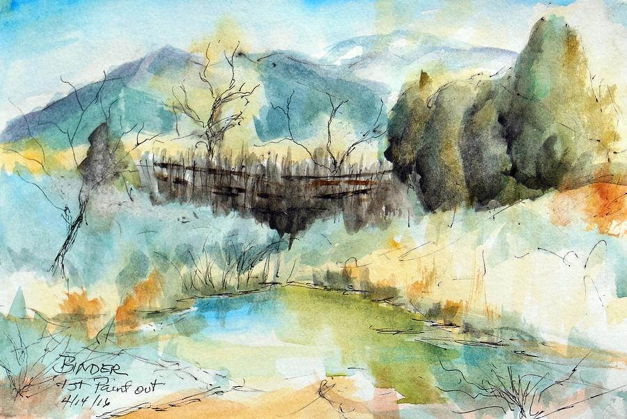 Springtime Painting - springtime at Fred Baca Park in Taos, NM by Diane Binder