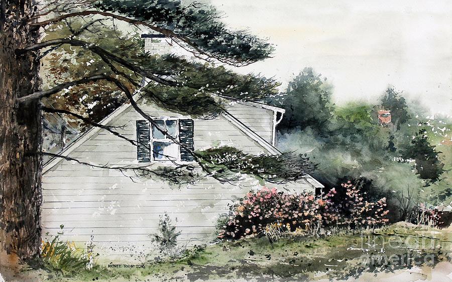 Maine Painting - Springtime At Round Pond Maine by Monte Toon