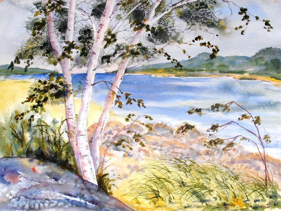 Springtime Birches by Diane Kirk