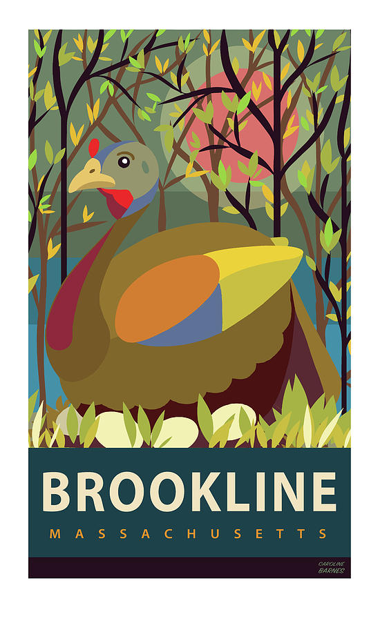 Brookline Digital Art - Springtime by Caroline Barnes