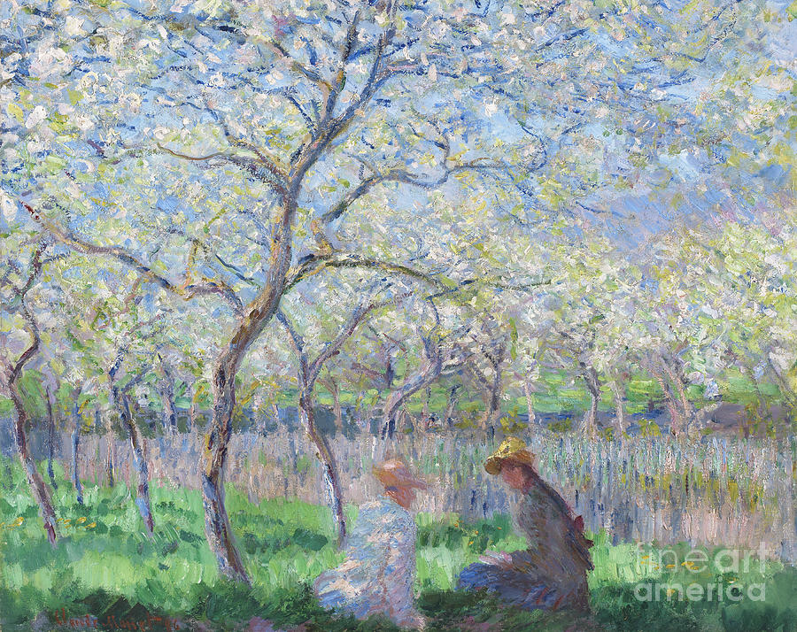 Blossom Painting - Springtime by Claude Monet