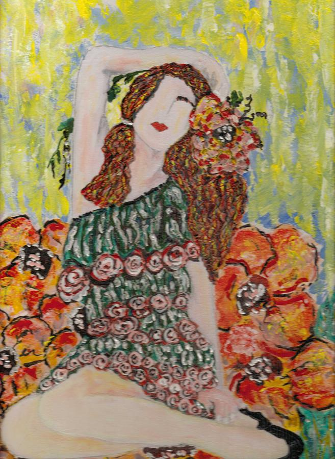 Spring Painting - Springtime by Cynda LuClaire