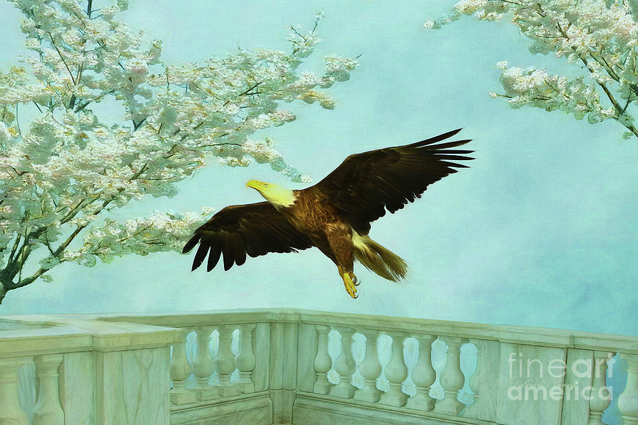 Springtime Eagle Painting