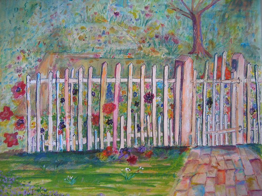 Garden Painting - Springtime in Virginia by Marlene Robbins