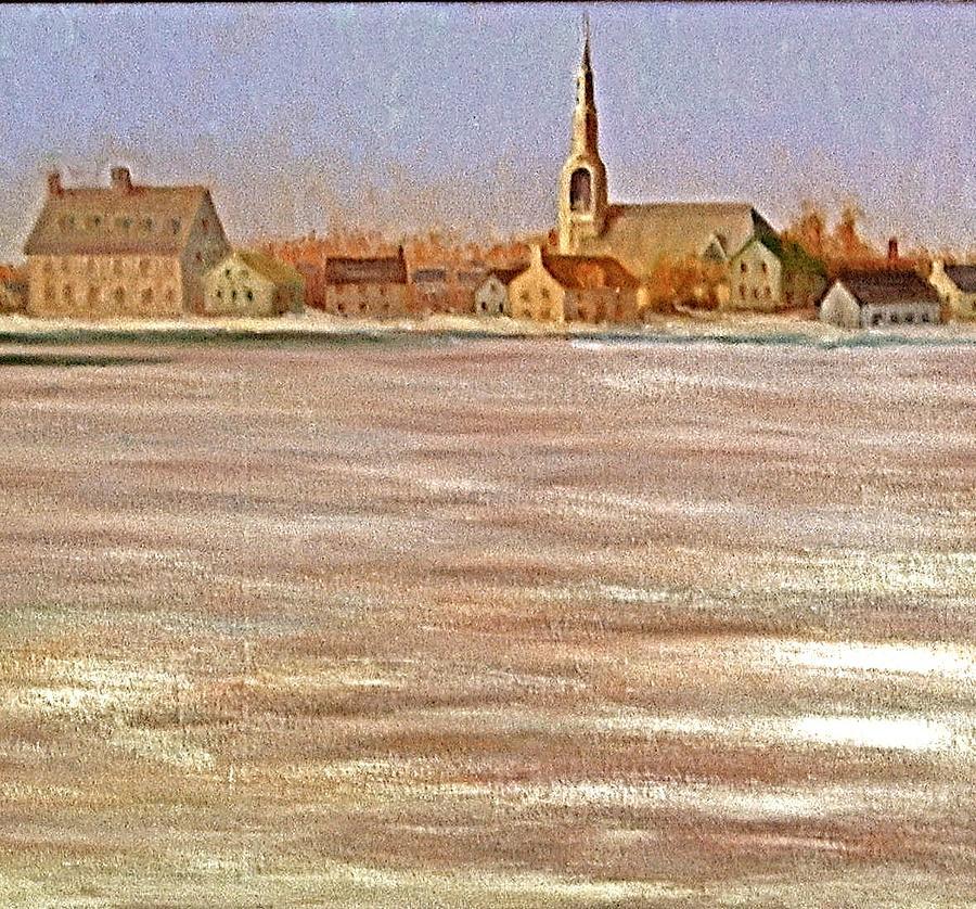 Springtime Lac St Louis Qc Painting by Chris  Riley