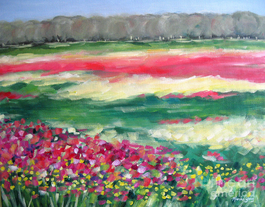 Landscape Painting - Springtime Memories by Marsha Young