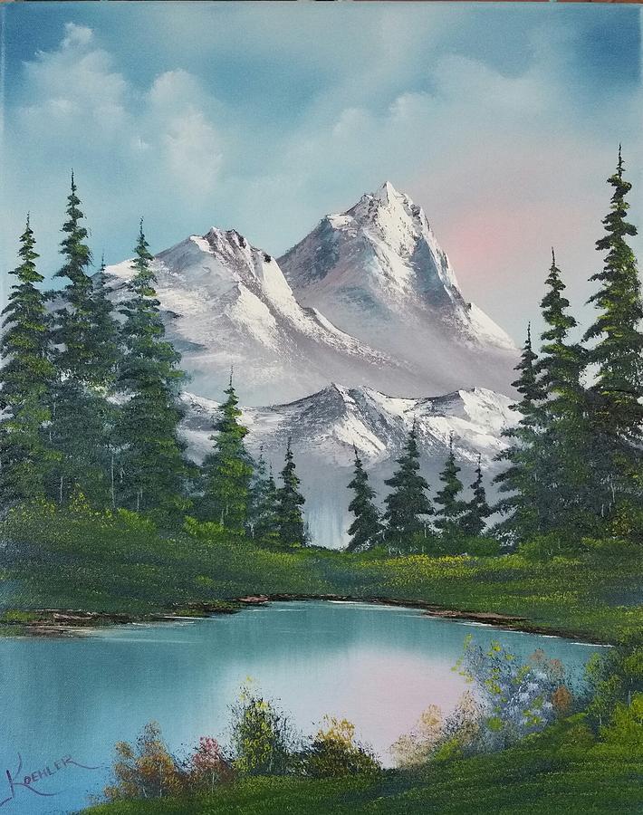 Mountain Painting - Springtime Mountain by John Koehler