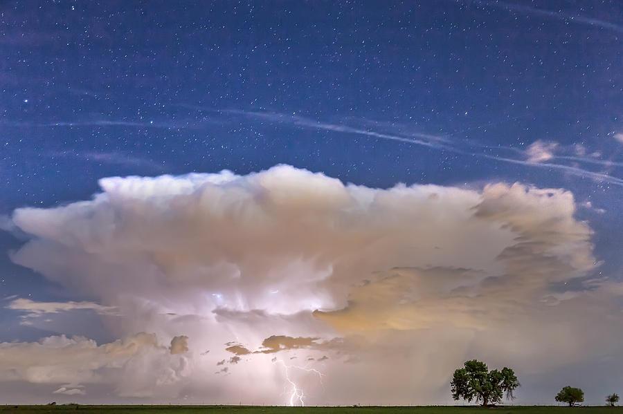 Springtime Thunderstorm On The Colorado Plains Photograph