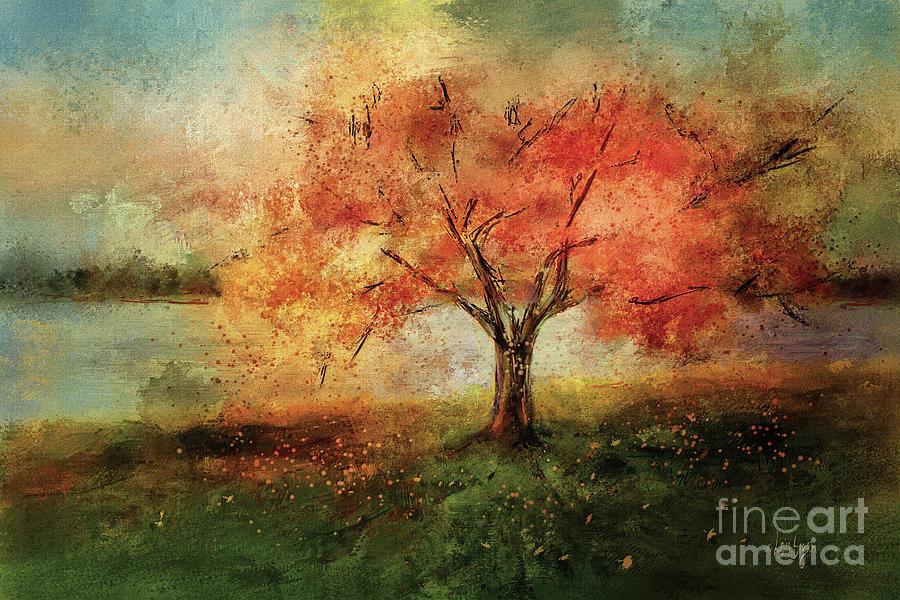 Cherry Blossom Digital Art - Sprinkled With Spring by Lois Bryan