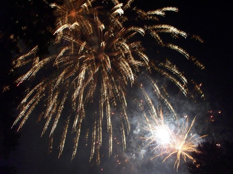 Fireworks Photograph - Sprinkler In The Sky by Rosanne Bartlett