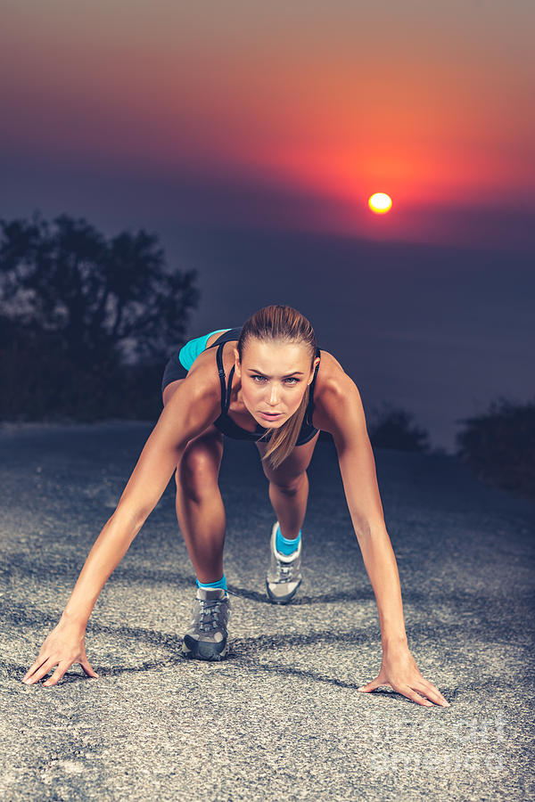 Active Photograph - Sprinter Woman On The Start by Anna Om