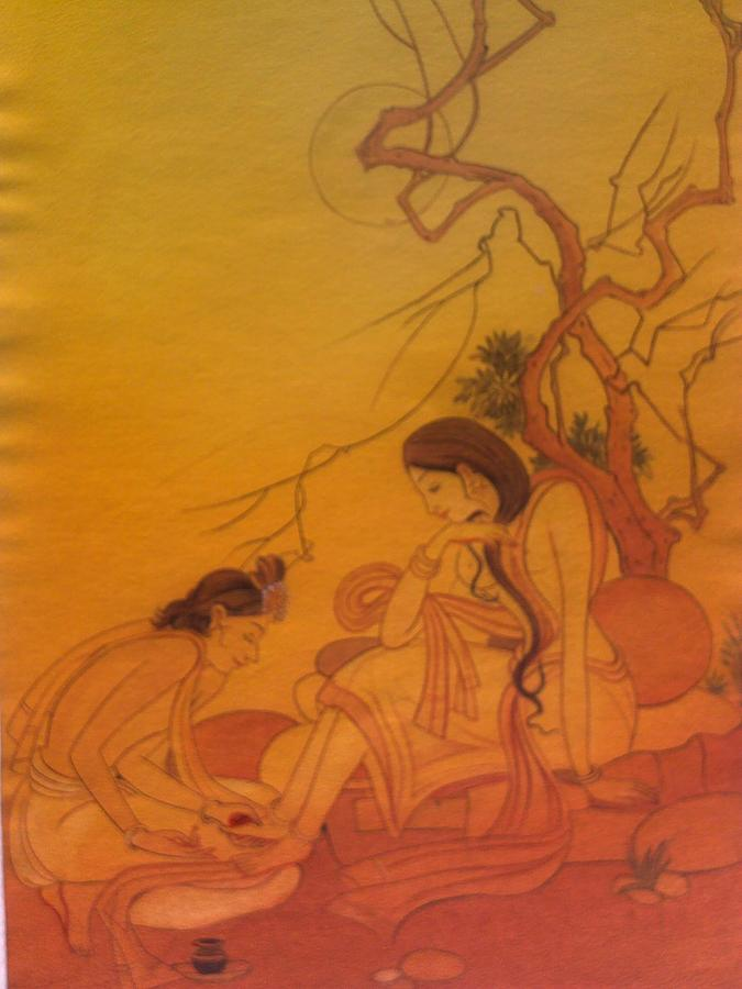 Sprituality In Ancient India-2 Painting by Renu  Shahi