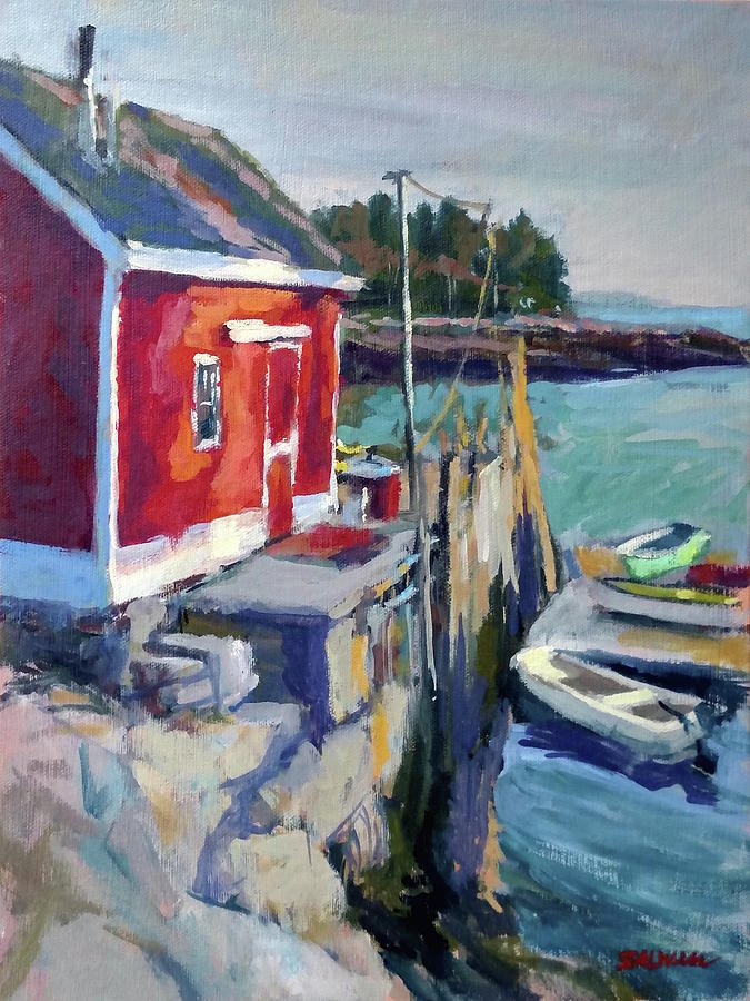 Landscape Painting Painting - Spruce Head Island, Maine by Peter Salwen