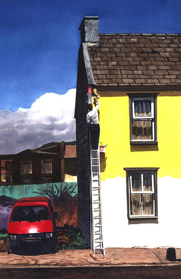Sprucin Up Print by John Fitzgibbon