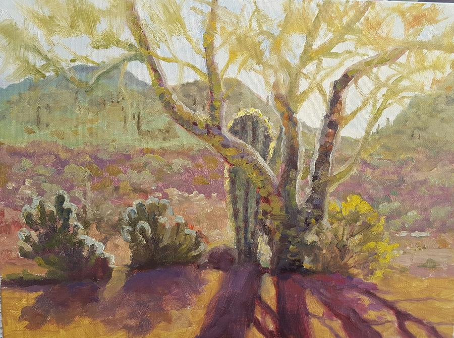 Palo Verde Painting - Spur Cross, April by Nora Sallows