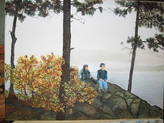 Squam Lake Nh Painting by Colleen DalCanton