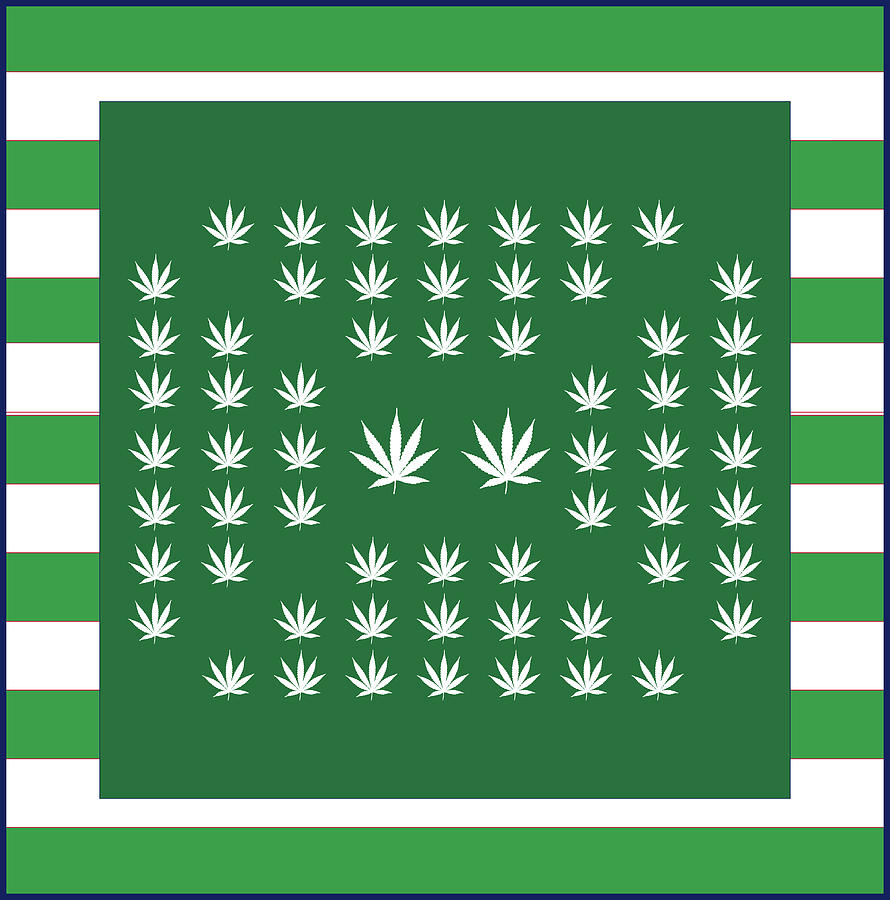 Weed Digital Art - Square 8-25c by Larry Waitz