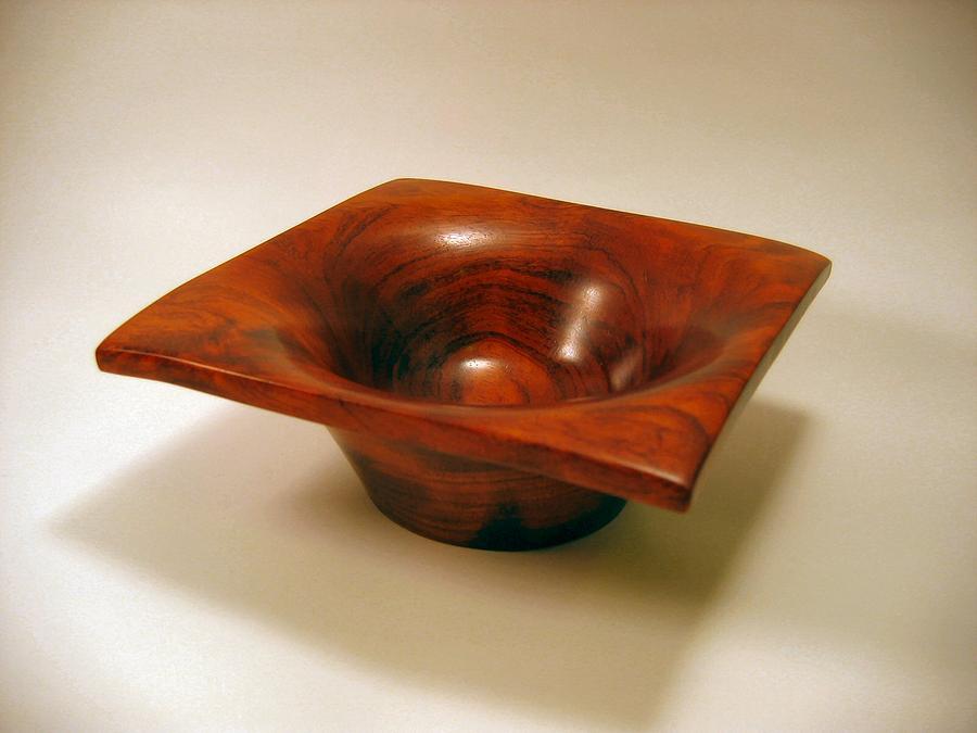 Wood Mixed Media - Square Bowl by Scott Blackman