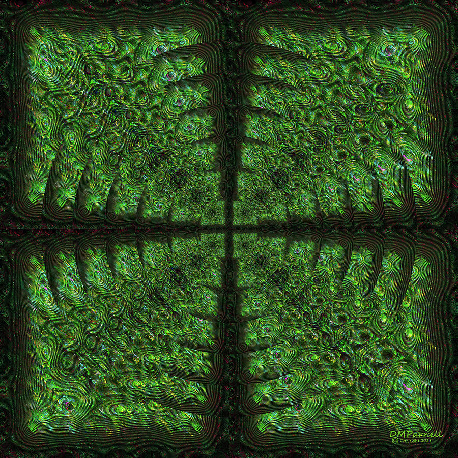 Abstract Digital Art - Square Crop Circles Four by Diane Parnell