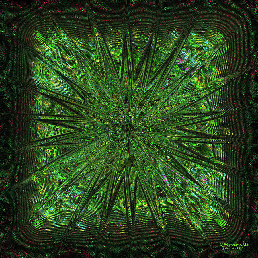 Abstract Digital Art - Square Crop Circles Three by Diane Parnell