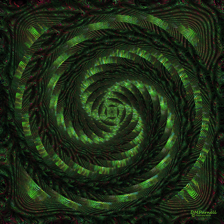 Abstract Digital Art - Square Crop Circles Two by Diane Parnell