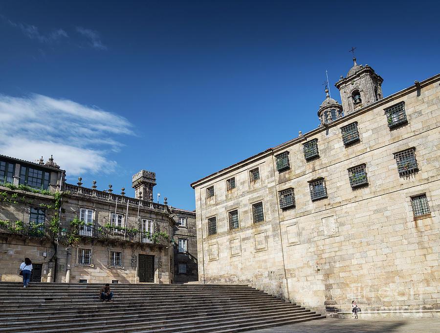 Square In Historic Old Town Of Santiago De Compostela Spain Photograph
