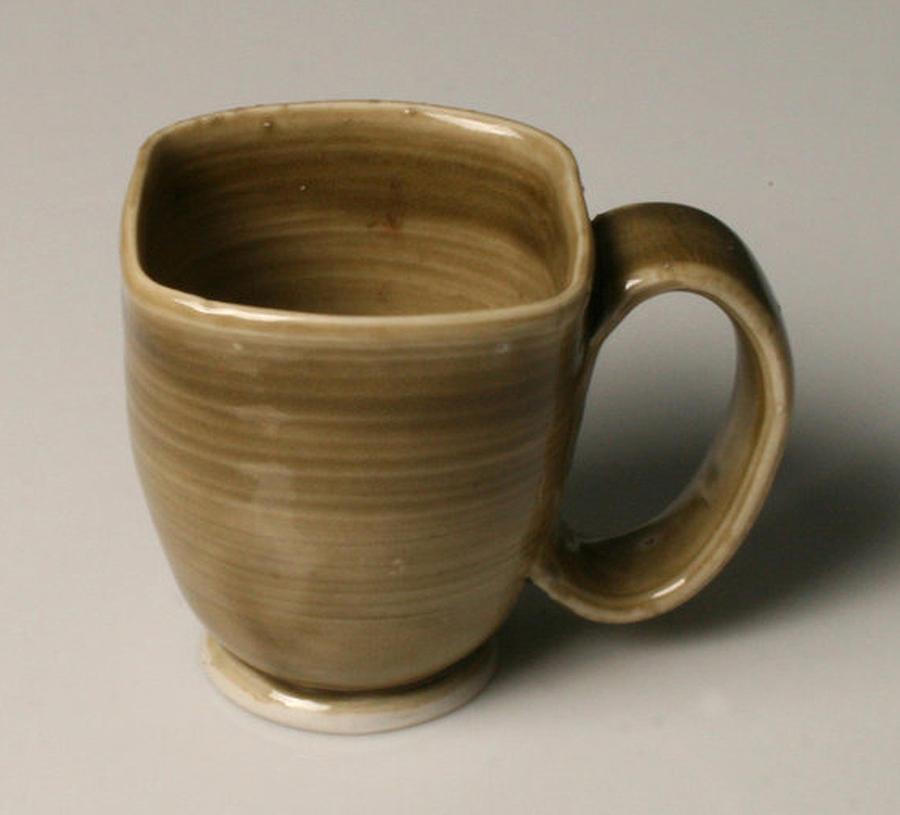 Porcelain Ceramic Art - Square Mug by Isaac Getlan