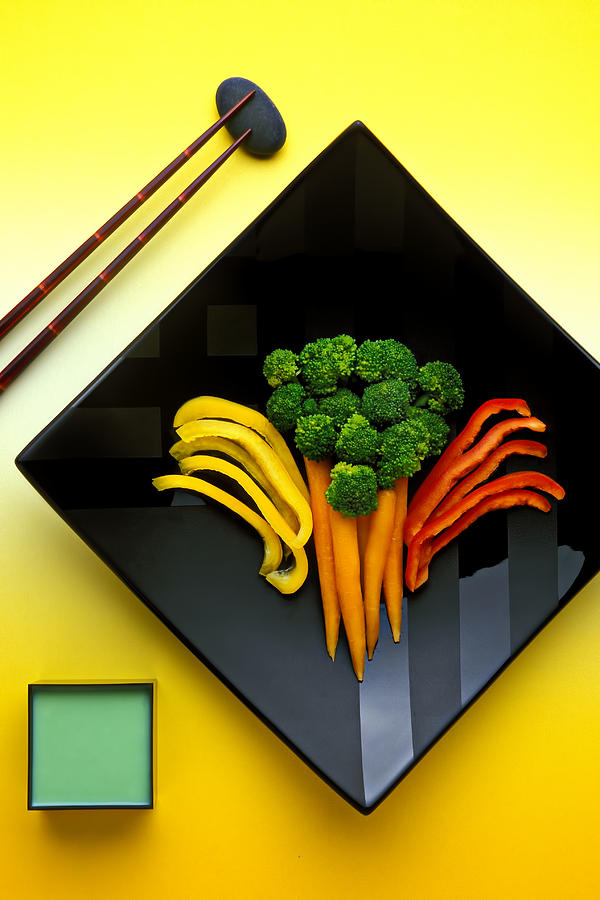 Vegetables Photograph - Square Plate by Garry Gay