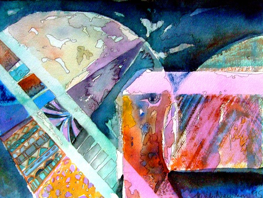 Abstract Painting - Square Root I by Mindy Newman