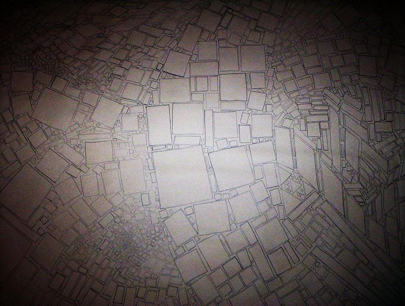 Pencil Drawing - Square Route by Tony Murray