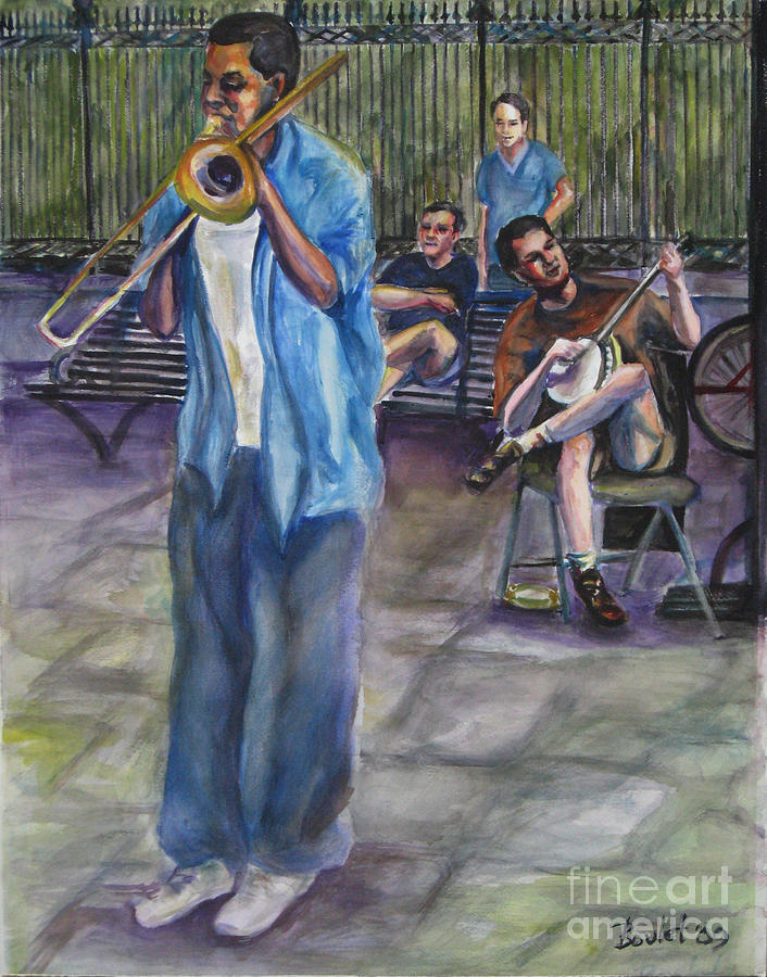 New Orleans Painting - Square Slide by Beverly Boulet