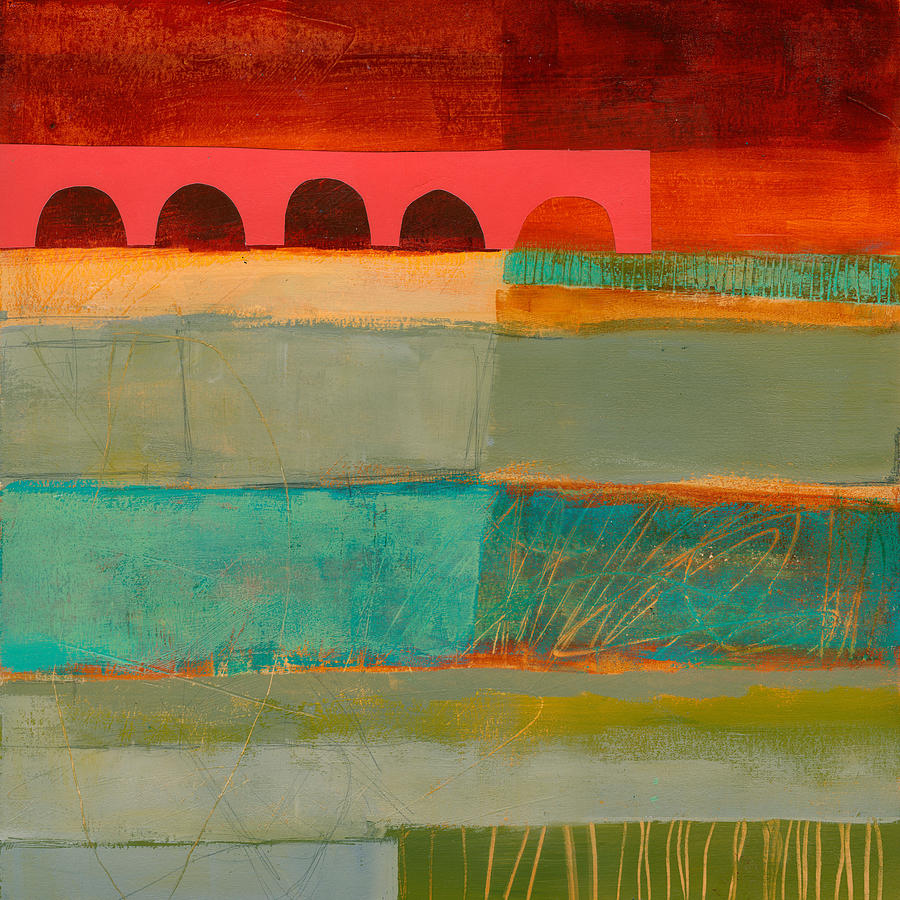 Pattern Painting - Square Stripes by Jane Davies