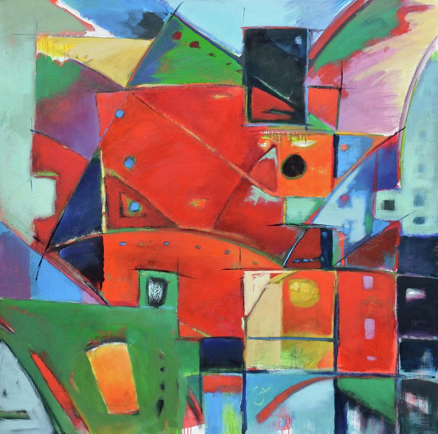Abstract Painting - Square With Friends by Gary Coleman