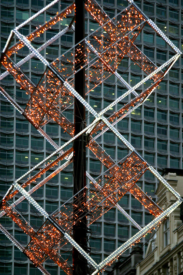 London Photograph - Squared Christmas by Jez C Self